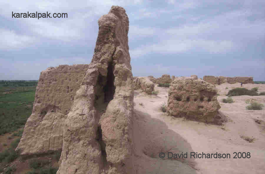 Profile of the outer wall of Qizil Qala