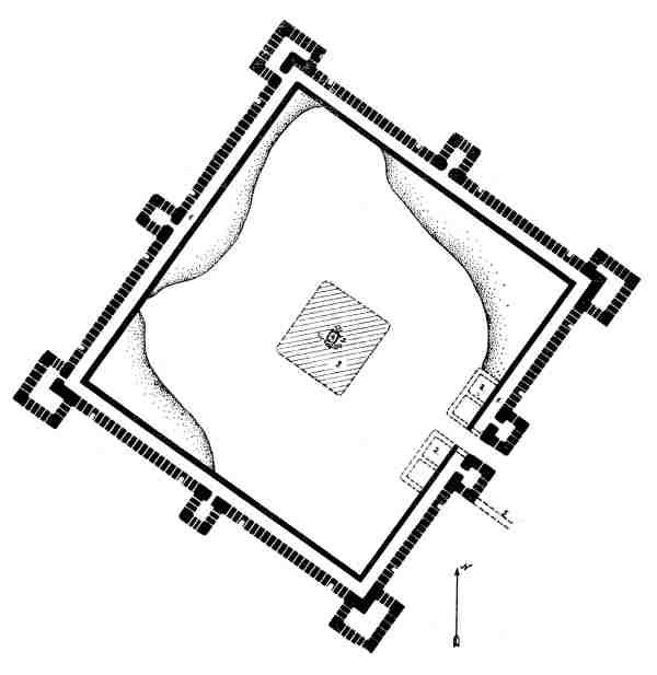 Plan of Qizil Qala