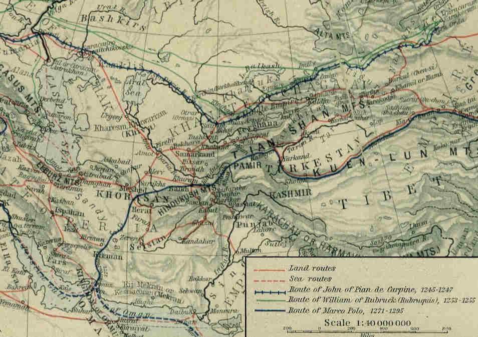 Carpini's route