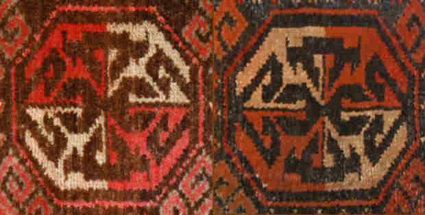 Two alternate tay tuyaq motifs