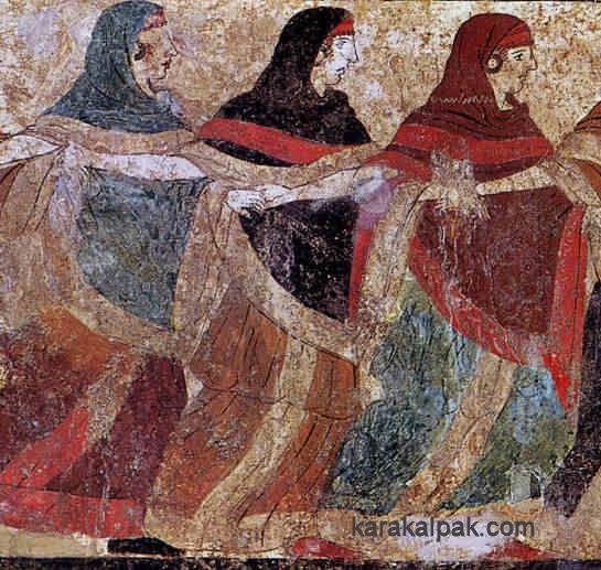 Women veiling the head...