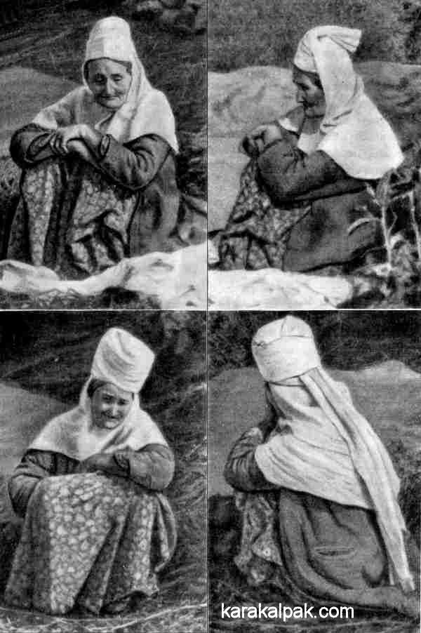 An old Uzbek woman wearing a lyachek