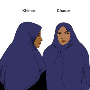 Khimar and chador