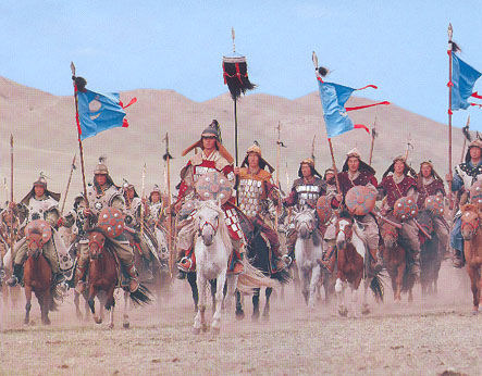 Mongol cavalry re-enactment in 2006