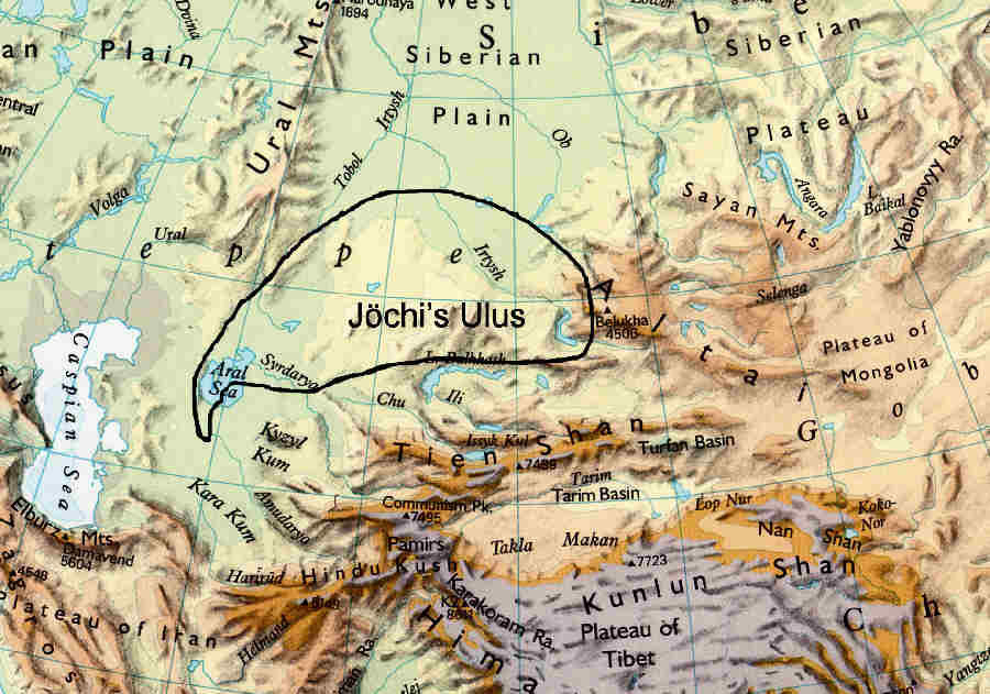 Jochi's Ulus in 1227