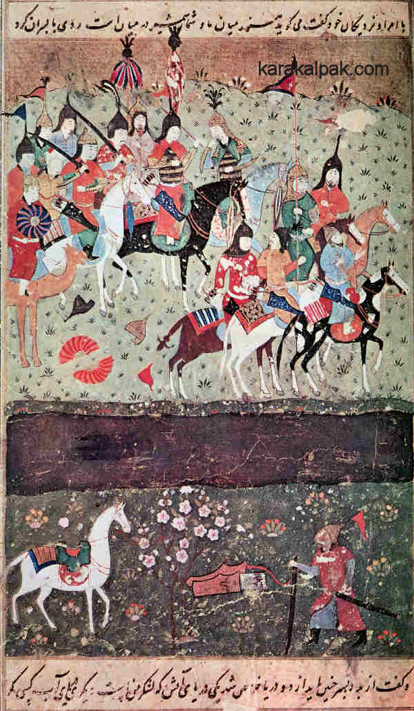 Jalal ad-Din escaping across the Indus