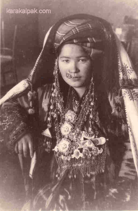 Wealthy Karakalpak woman in the 1930s