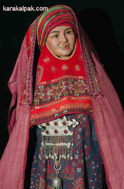 20th century Karakalpak bridal costume