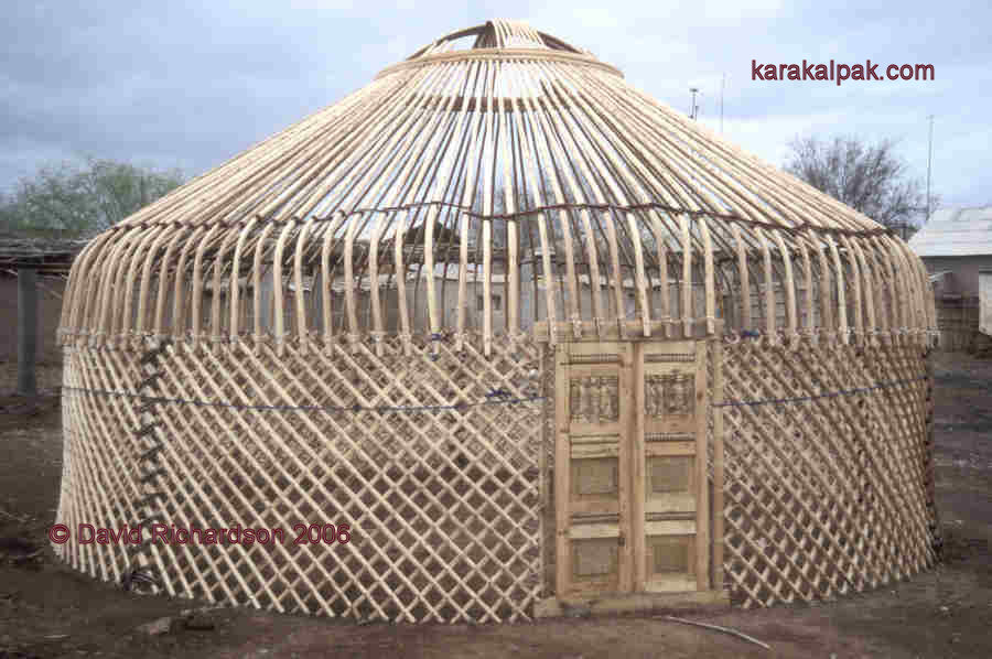 Carcass of a new Karakalpak yurt