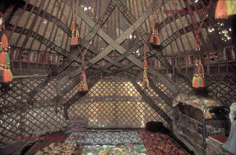 Yurt interior at Bozataw