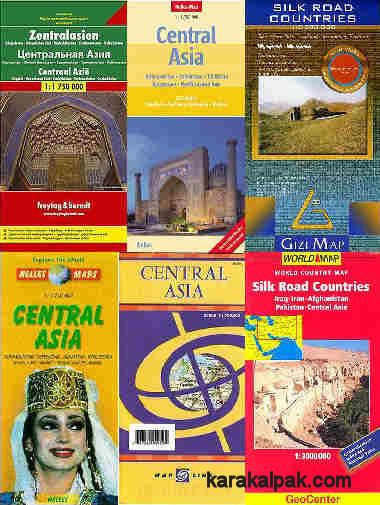 A selection of commercially available maps