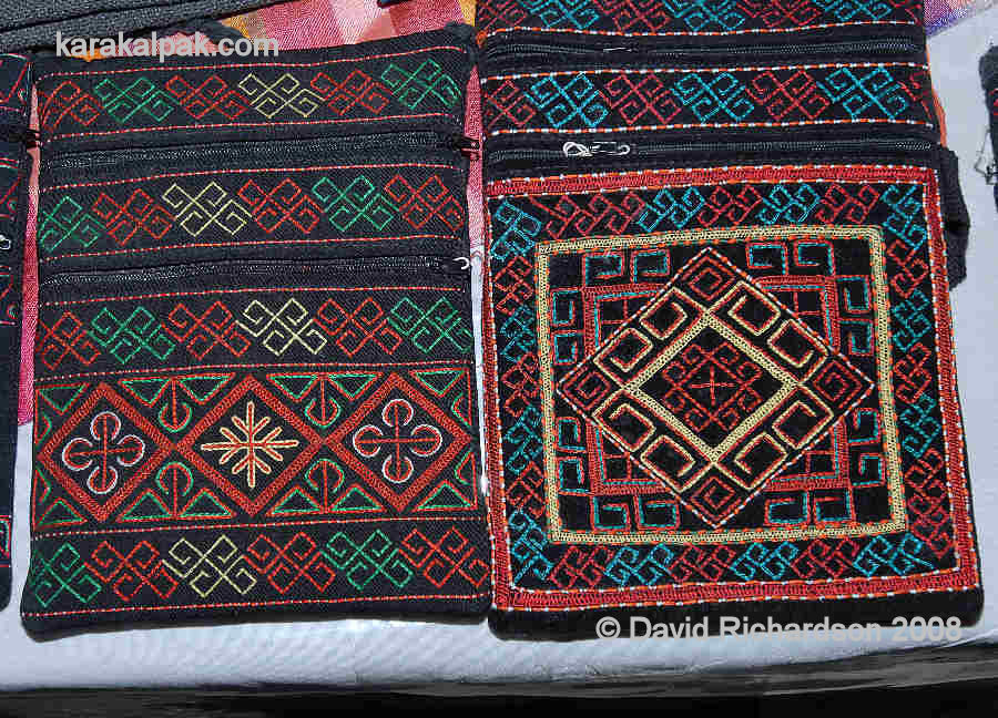 Embroidered Karakalpak purses